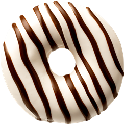 MINI WHITE CHOCO STRIPES